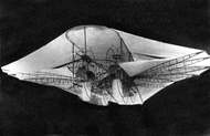 The Ezekiel Airship as shown on a postcard from the early 1900's