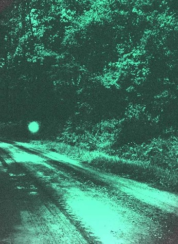 Ghost lights along an old stagecoach route