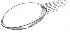 Drawing of the initial sighting by Billy Ray Taylor of the object