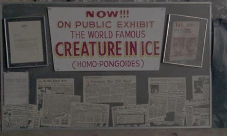 """Signs advertising the """"world famous"""" Create in Ice"""