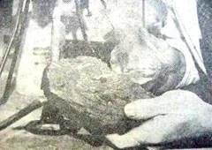 Supposedly the only known photograph of the Maury Island UFO fragments
