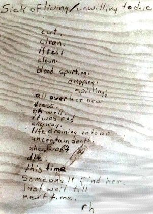Copy of letter bearing similar handwriting found in Riverside City College Library in December 1966