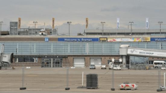 Bremen airport in Bremen, Germany