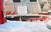 Sinkhole swallows eitht Corvettes at the National Corvette Museum - Bowling Green, Kentucky