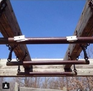 Razor blades attached to park playground equipment in East Moline, Illinois