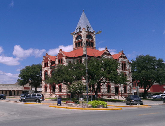 County courthouse in Stephenville, Texas