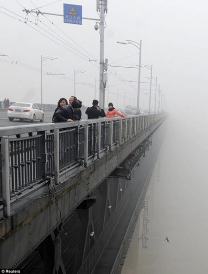 Photographer accidentally captures couples' suicide leap from bridge