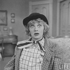 Lucille Ball as her hobo character