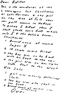 Letter sent to San Francisco Chronicle on July 31, 1969 (postmarked San Francisco, California)