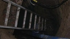 Ladder leading into the mysterious tunnel