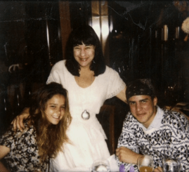 Susan Berman with her two stepchildren