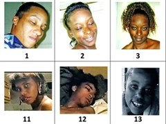 Photos of potential victims taken by the Grim Sleeper