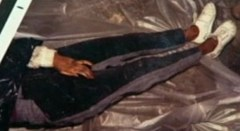 Crime scene photo from scene of Grim Sleeper murder