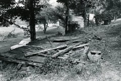Ruins of chicken coop where Clayton's saw the creature in 1978