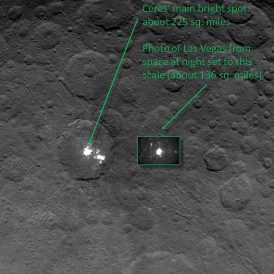 Ceres Lights–mystery lights on dwarf planet bear striking semblance to street lights of earthly cities