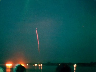 Naga Fireball captured with low-speed camera showing tracer tail