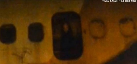 Ghost of little girl inside an abandoned airplane at Mexico City International Airport