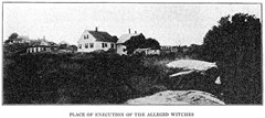 Gallows Hill - location of Salem with hangings