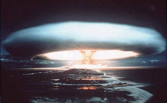 Nuclear test in the Pacific