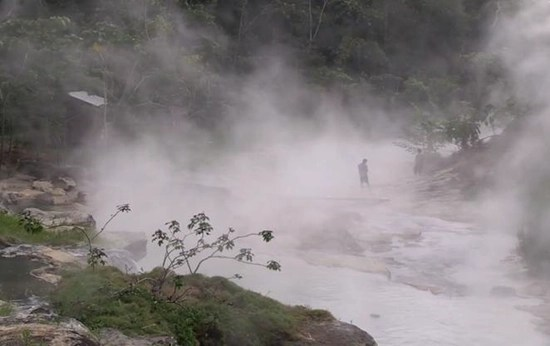 Boiling River at Mayantuyacu discovered deep in the Amazon rainforest