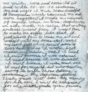 "Page two of the Golden State Killer ""homework assignment"""