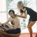 Roman Polanski with Sharon Tate shortly before her death