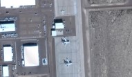 Aircraft on the tarmac at Area 51
