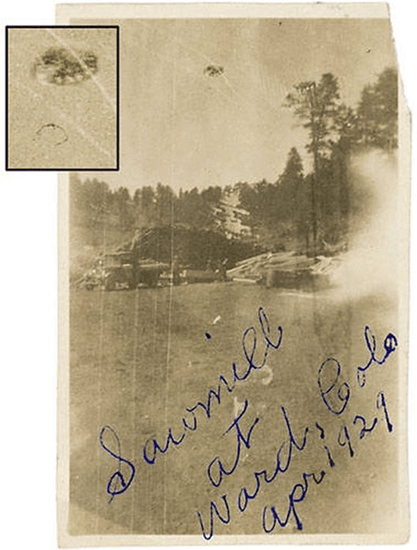 UFO over sawmill in Ward, Colorado taken by Edward Pine