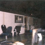 The outside of Robert Pickton's trailer house