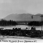 Dead Man's Island as seen from Georgia Street in Vancouver