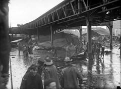 Railway girders destoryed by the Boston Molasses Disaster