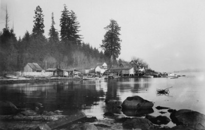 Squatter huts on Deadman's Island in Vancouver
