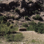 Original site of the Roswell UFO crash marked with square monument