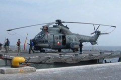 Chilean Navy Eurocopter Airbus Cougar AS-532 helicopter flown by Chilean Navy