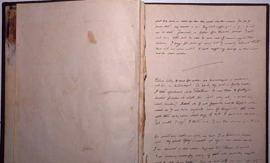 First page of Maybrick diary - first 20 pages have been torn out