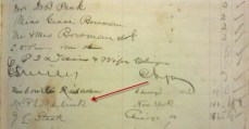 Florence Maybrick's signature on a guest registry