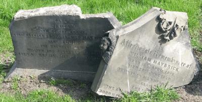 Today James Maybrick's headstone has been broken by vandals