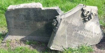 Today James Maybrick's headstone has been broken by vandals