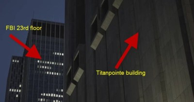 Titanpointe building and FBI offices only a block apart
