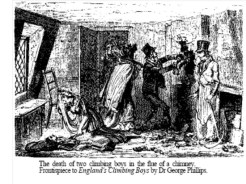 Newspaper account of death of child chimney sweeps