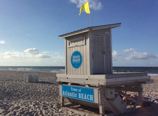 Atlantic Beach near where a 17-year-old girl was attacked by a shark
