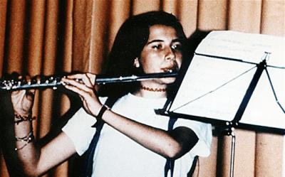 15-year-old Emanuela Orlandi playing flute