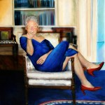 Bizarre painting found in Jeffrey Epstein's home of Bill Clinton wearing a dress