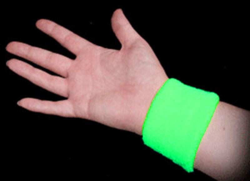 Neon Sweatbands - Green (Image on Wrist)