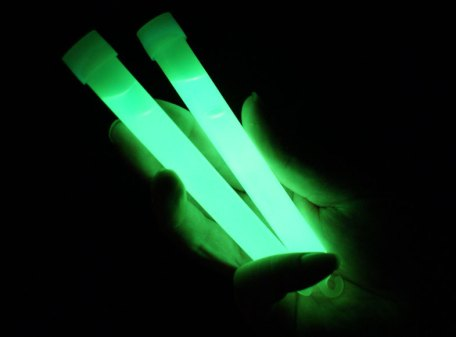 "6"" Glow Sticks with Lanyard - Green"