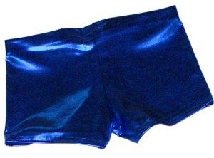 Blue Metallic Hotpants