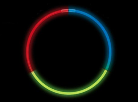 Glow Necklace - Tri Colour (Red, Blue, Green)
