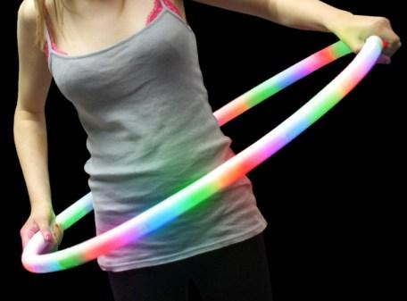 """LED Flashing Hula Hoop 27"""" with Model"""