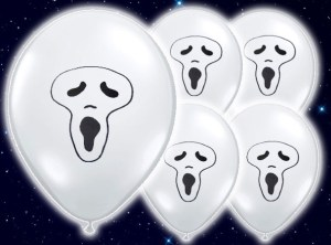 Light Up Balloons - Ghost 5 Pack