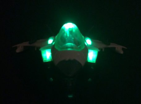 Fighter Jet Toy Front Lit Up